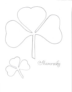 Patterns for two shamrocks