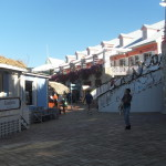 Shops along the harbor