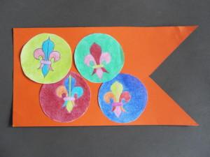 Banner with fleur de lis design
