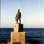 Statue by the harbor Kardamila, Chios, Greece