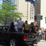 Malkin waving to the crowd
