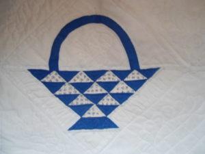 BLUE BASKET PATTERN