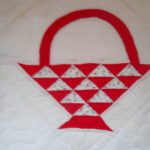 RED BASKET PATTERN QUILT