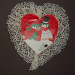 Recycled Valentine's Day collage