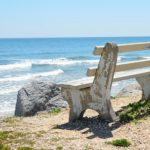 BENCH CHAIR AT THE BEACH