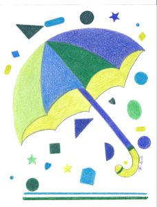 Blue, Green, Chartreuse Umbrella