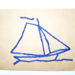 Antique Sewing Card - Sailboat