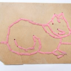 Antique Sewing Card - Cat