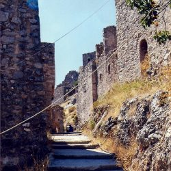 The old medieval town of Anavastos on the island of Chios
