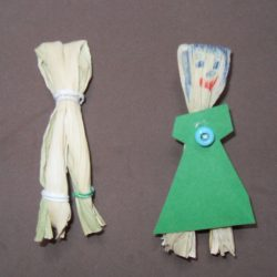 Colonial corn husk dolls/puppets